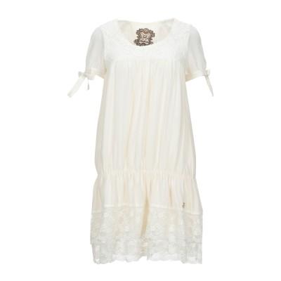 アトリエ フィックスデザイン ATELIER FIXDESIGN ミニワンピース&ドレス アイボリー 40 ポリエステル 100% ミニワンピース&