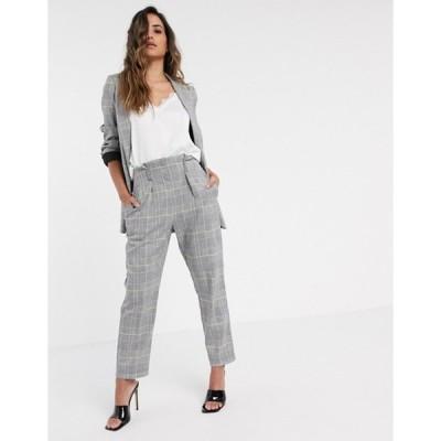 クローゼットロンドン レディース カジュアルパンツ ボトムス Closet London tailored pants in light check