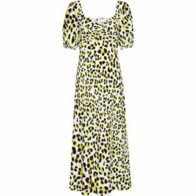 ダイアン フォン ファステンバーグ Diane von Furstenberg レディース ワンピース ミドル丈 Jade leopard-print crepe midi dress