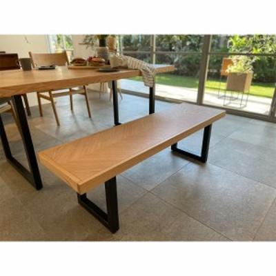 家具 収納 イス チェア ベンチ 北欧調ヘリンボーンダイニングシリーズ ダイニングベンチ幅130cm 568305