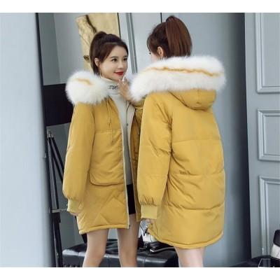 💙大好評につSALE延長韓国ファッション 長袖 おしゃれな 新品 秋冬物 大きいサイズ レインボー 中・長セクション ダウンコート コート 💙