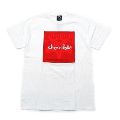 THRASHER × CHOCOLATE / スラッシャー SKATEGOAT Tシャツ WHITE ホワイト