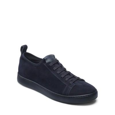 サントーニ メンズ スニーカー シューズ Men's Suede Slip-On Stretch Sneakers