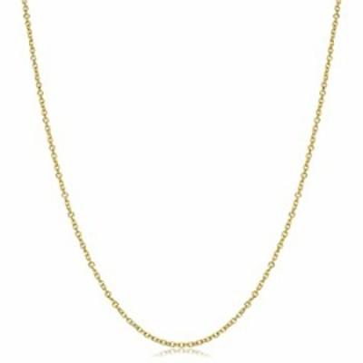 Kooljewelry 14k Yellow Gold 1.5 mm Diamond-Cut Cable Chain Necklace (20 inch)
