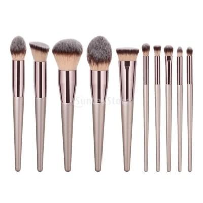 メイクアップブラシ メイクブラシ アイシャドウ 眉毛 ファンデーション 美容 化粧品ブラシ プロ 基礎ブラシ 3仕様選べる - 10個入
