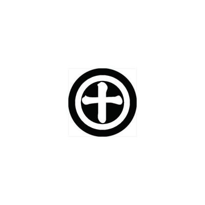 家紋シール 丸に十の字紋 直径4cm 丸型 白紋 4枚セット KS44M-0627W