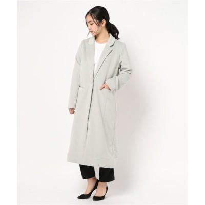 kobelettuce / [ミディアム/ロング丈]シンプルチェスターコート WOMEN ジャケット/アウター > チェスターコート