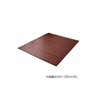 イケヒコ 竹カーペット 無地 糸なしタイプ 『ユニバース』 ダークブラウン 200×240cm 1枚(直送品)