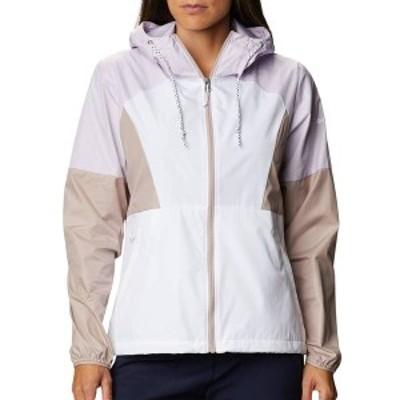 コロンビア レディース ジャケット・ブルゾン アウター Columbia Women's Side Hill Windbreaker Jacket White Mve Vapr Pale Lilc
