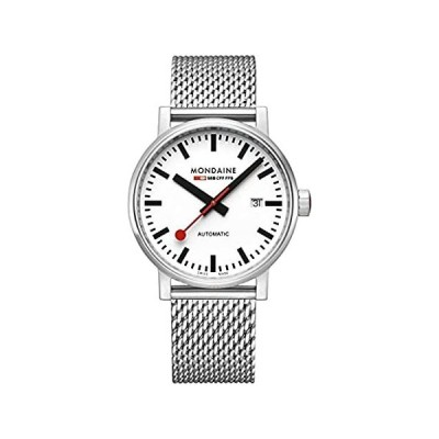 特別価格Mondaine Official Swiss Railways Automatic Watch EVO2   White/Mesh Bracelet好評販売中