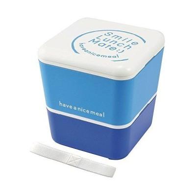 Sugar land スマイルランチメイト スクエアネストランチBOX ブルー 42007-6
