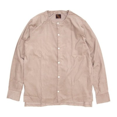 Phatee ファティ|TEKIYA SHIRTS LONG (ベージュ)(ノーカラーシャツ 長袖シャツ)
