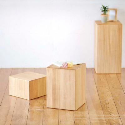 家具 収納 イス チェア スツール 高さ20cm(かるばこ テーブル&スツール) GD9220