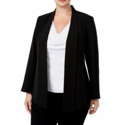 Calvin Klein カルバンクライン ファッション 衣類 Calvin Klein NEW Deep Black Womens Size 2X Plus Open Front Jacket