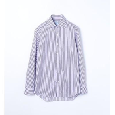 【トゥモローランド/TOMORROWLAND】 ERRICO FORMICOLA コットンストライプ ワイドカラー ドレスシャツ