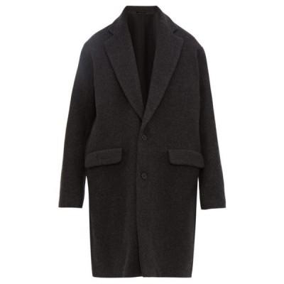 レイ Raey メンズ コート アウター single-breasted wool-blend coat Charcoal grey
