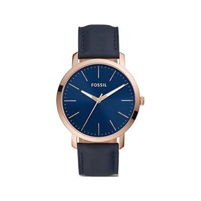 Fossil メンズ Luther 3針 ブルートーン ステンレススチール 腕時計 BQ2424