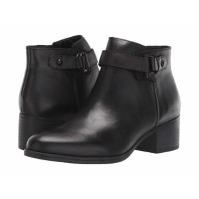 Naturalizer ナチュラライザー レディース 女性用 シューズ 靴 ブーツ アンクル ショートブーツ Drewe Black Leather【送料無料】