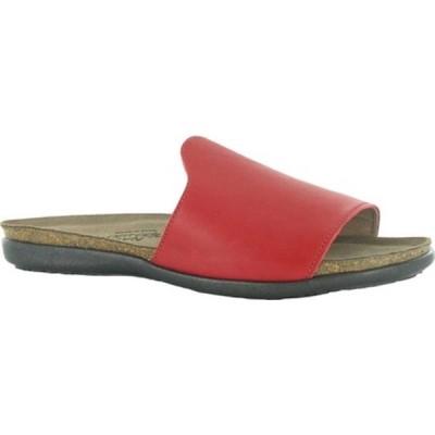 ナオト サンダル シューズ レディース Skylar Flat Slide (Women's) Kiss Red Leather