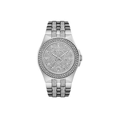 腕時計 ブローバ Bulova 96B235 クリスタル Three-Hand ステンレス スチール メンズ 腕時計 #