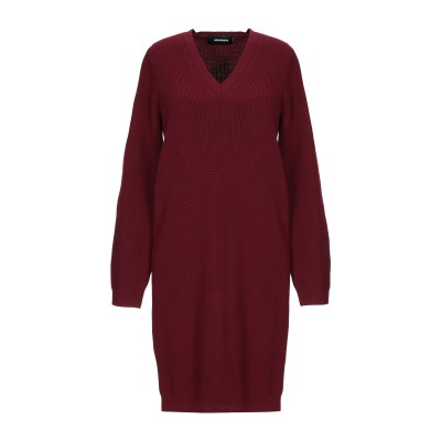 ディースクエアード DSQUARED2 ミニワンピース&ドレス ボルドー S ウール 100% ミニワンピース&ドレス
