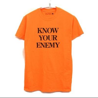 [美品]  フォーティーパーセントアゲインストライツ FORTY PERCENT AGAINST RIGHTS ◆ KNOW YOUR ENEMY Tシャツ/S/オレンジ Q966