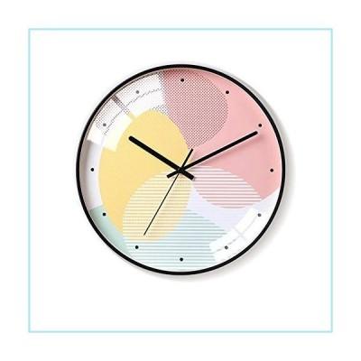新品Yangmani Nordic Simple Yellow Pink Wall Clock Minimalist Glass and Metal Materials Electronic Watches Creative Personality Mute Bell T