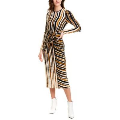 ロニーコボ レディース ワンピース トップス Ronny Kobo Lisette Midi Dress gold and black combo