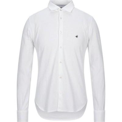 ブルックスフィールド BROOKSFIELD メンズ シャツ トップス solid color shirt White
