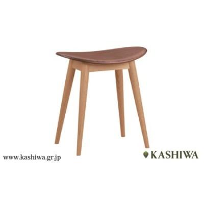 【KASHIWA】スツール 飛騨の家具 オーク材・ウォールナット材 板座 TR3254