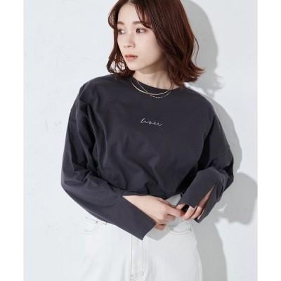 tシャツ Tシャツ <オソロ>バックロゴチュニックロングTシャツ