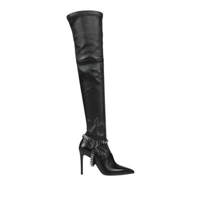 バルマン BALMAIN ブーツ ブラック 39.5 羊類革 ブーツ