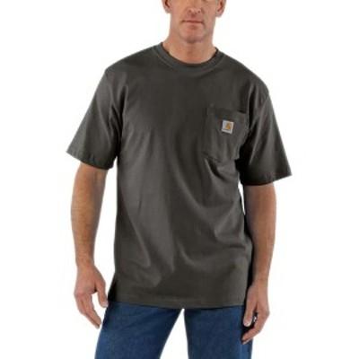 カーハート メンズ Tシャツ トップス Workwear Pocket Short-Sleeve T-Shirt Peat