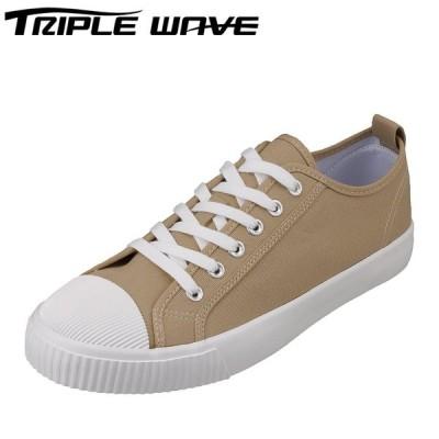 トリプルウェーブ TRIPLE WAVE TW-2306 メンズ   スニーカー   小さいサイズ対応 大きいサイズ対応   ベージュ