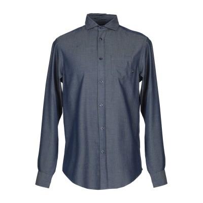 アルマーニ ジーンズ ARMANI JEANS シャツ ブルーグレー L コットン 55% / レーヨン 45% シャツ