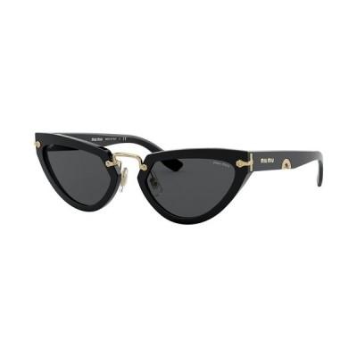 ミュウミュウ サングラス&アイウェア アクセサリー レディース Sunglasses, MU 10VS53-X BLACK/DARK GREY
