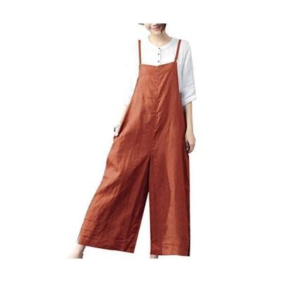 Easylife サロペット レディース ワイドパンツ 大きいサイズ オールインワン オーバーオール レディース ズボン