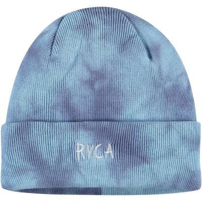 ルーカ メンズ 帽子 アクセサリー RVCA Void Cuffed Knit Hat Blue