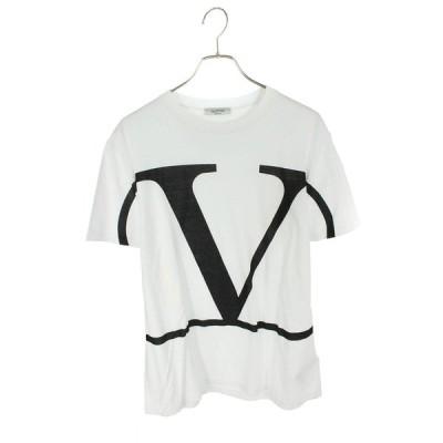 ヴァレンティノ VALENTINO SV3MG02T5F6 サイズ:L ロゴプリントTシャツ 中古 SB01