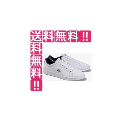ラコステ LACOSTE メンズ スニーカー CARNABY EVO TRI 1 [サイズ:26.5cm] [カラー:ホワイト×ネイビー×レッド] #SMA033L-407