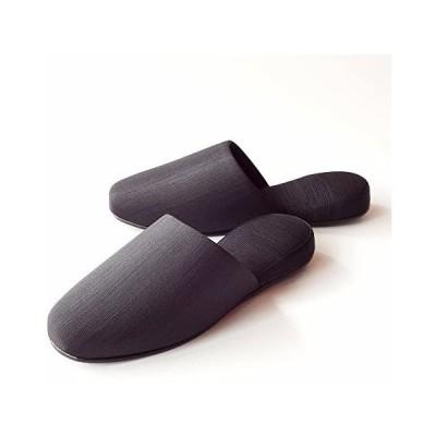 [フィットランド] Fit-land グログラン フォーマルスリッパ 巾着型ポーチセット (ブラック M)