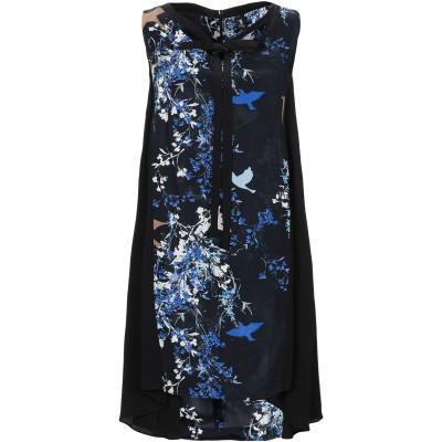 1-ONE ミニワンピース&ドレス ブラック 40 レーヨン 60% / キュプラ 40% ミニワンピース&ドレス