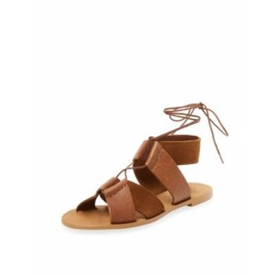 ファース レディース シューズ サンダル Lace-Up Leather Gladiator Sandal