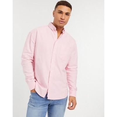エイソス メンズ シャツ トップス ASOS DESIGN 90s oversized organic oxford shirt in pink Pink