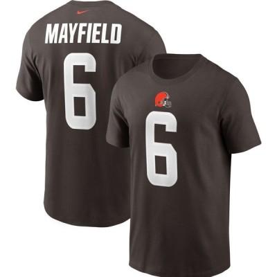 ナイキ Nike メンズ Tシャツ トップス Cleveland Browns Legend Baker Mayfield #6 Brown T-Shirt