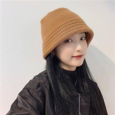 秋冬 ニット帽 帽子 レディース 小物無地  保温  小顔効果防寒対策 帽子 暖か 編み ニット キャップ M23