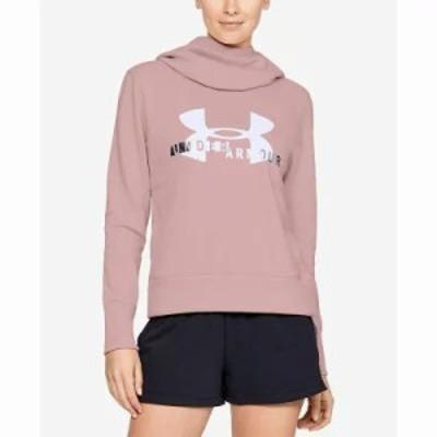アンダーアーマー フリース Fleece Logo Hoodie Flushes Pink/White
