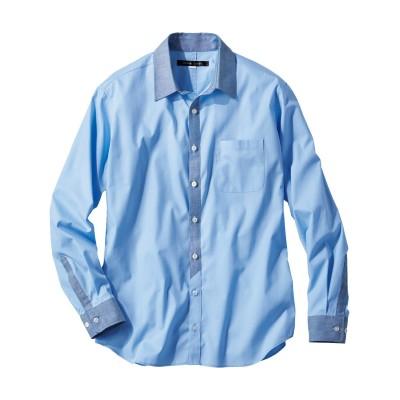 お腹ゆったりドットプリント長袖シャツ(日本製) カジュアルシャツ, Shirts,