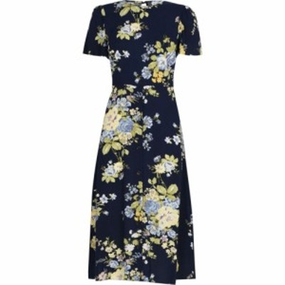 ウェアハウス Warehouse レディース ワンピース ミドル丈 ワンピース・ドレス BONNIE ROSE MIDI DRESS Blue Pattern