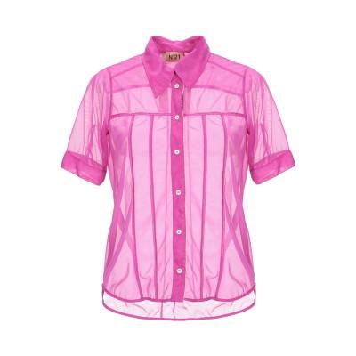 ヌメロ ヴェントゥーノ N°21 シャツ フューシャ 40 ナイロン 100% シャツ